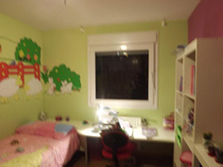 Dormitorio niña ANTES Almudena Madrid Interiorismo, diseño y decoración de interiores