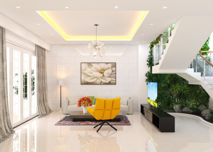 Công ty Thiết Kế Xây Dựng Song Phát Mediterranean style living room