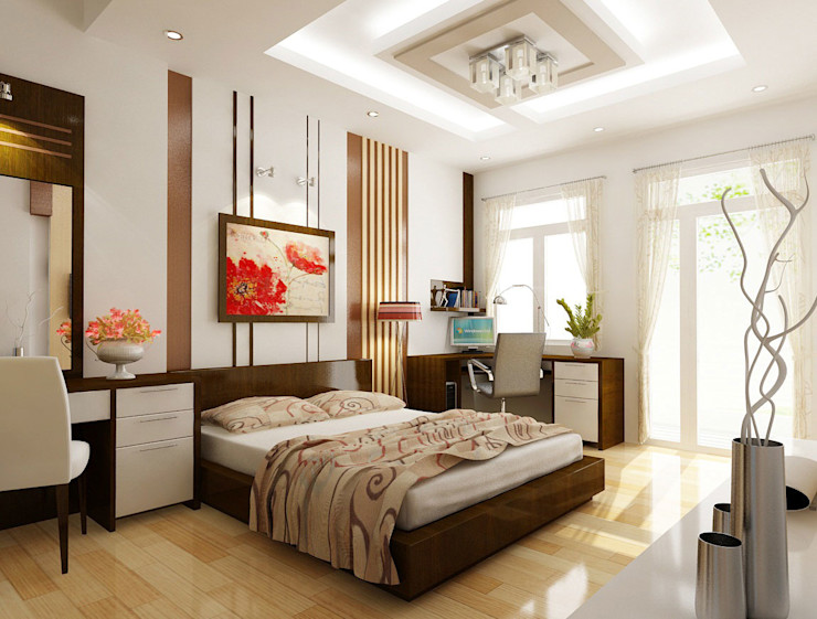 Công ty Thiết Kế Xây Dựng Song Phát Mediterranean style bedroom