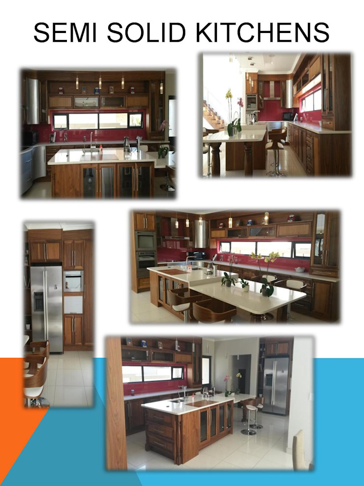 Semi solid kitchen SCD Group Kitchen units Solid Wood Brown