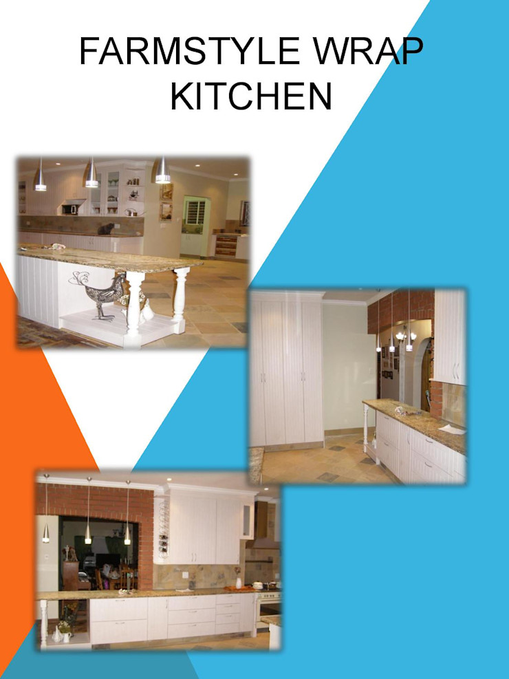 Farmstyle wrap kitchen SCD Group Kitchen units Wood-Plastic Composite White