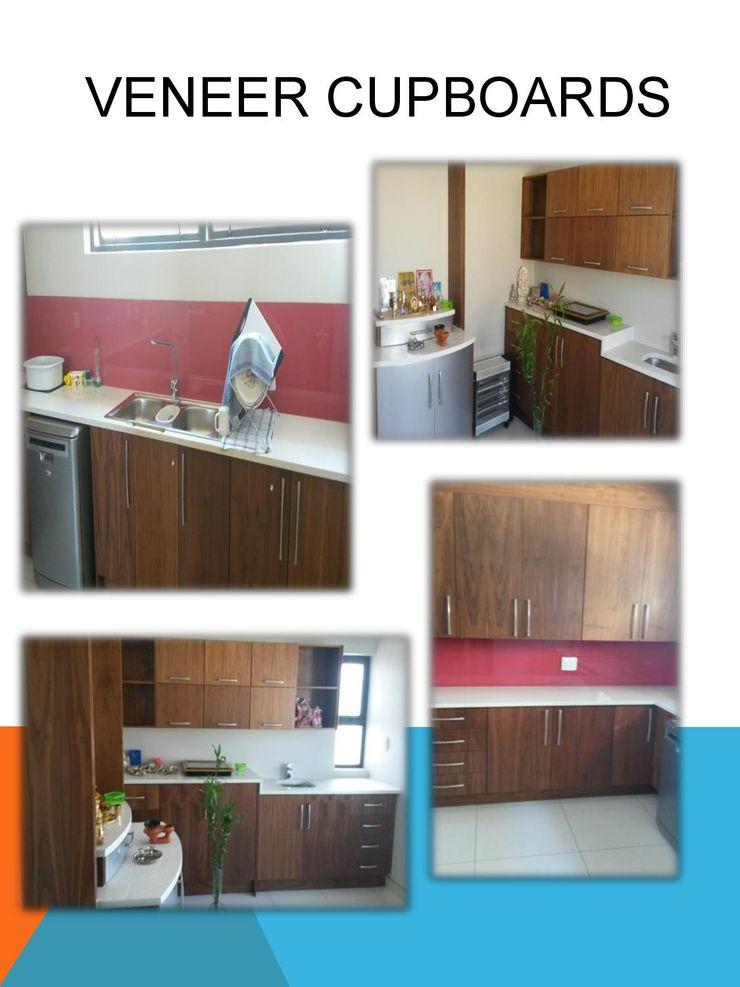Veneer cupboards SCD Group Modern Kitchen Wood Brown