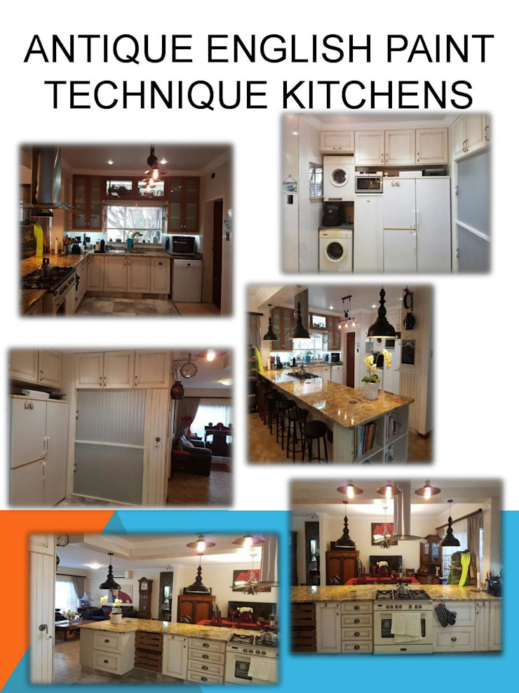 Country style paint technique kitchen SCD Group Kitchen units