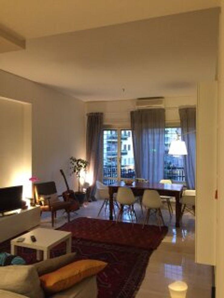 DUOLAB Progettazione e sviluppo Modern living room Marble Beige