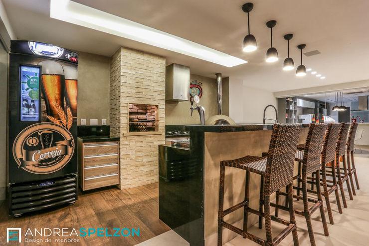 Espaço Gourmet em casa! Andréa Spelzon Interiores Varandas, alpendres e terraços rústicos