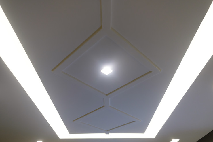 Progetto d'interni e dell'arredamento Studio Perillo Soggiorno moderno Grigio