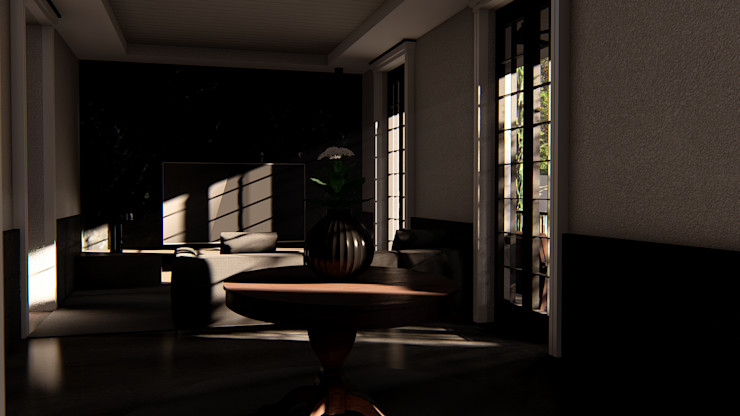 alexander and philips Living room Granite Black