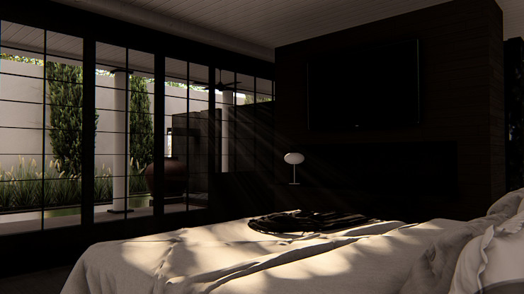 alexander and philips Classic style bedroom Marble Black