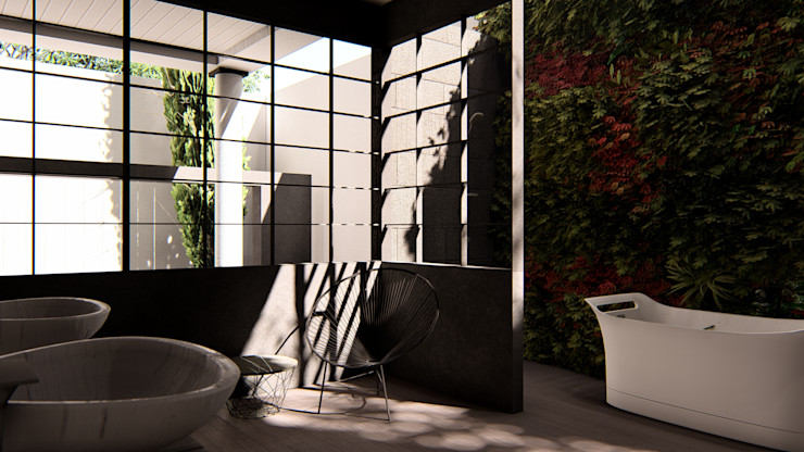 alexander and philips Classic style bathroom Iron/Steel Black