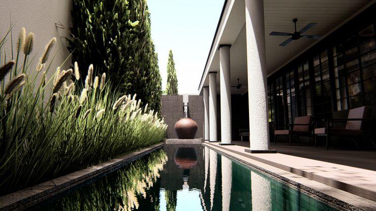 alexander and philips Garden Pool Tiles Green