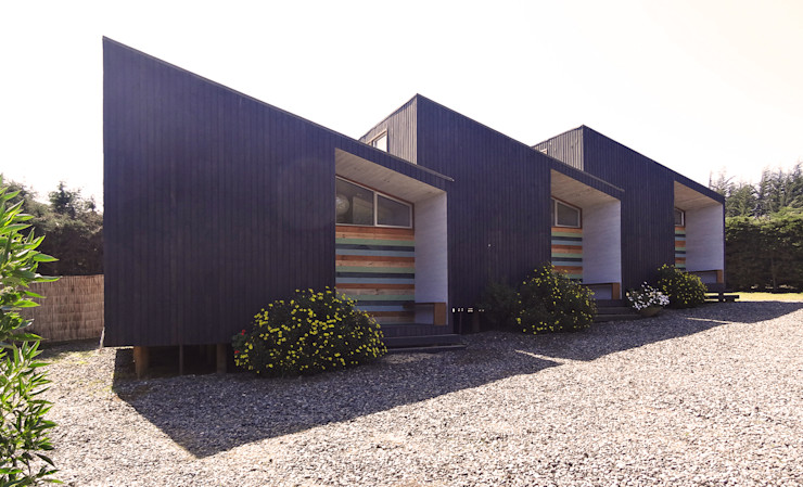 Cabañas Algarrobo m2 estudio arquitectos - Santiago Cabañas Madera Negro