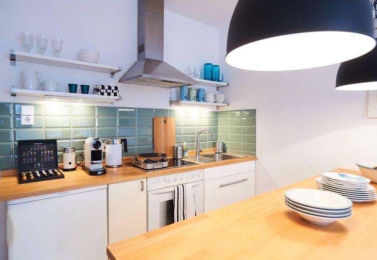 Möbliertes Appartement - Kochen Tschangizian Home Staging & Redesign Industriale Esszimmer