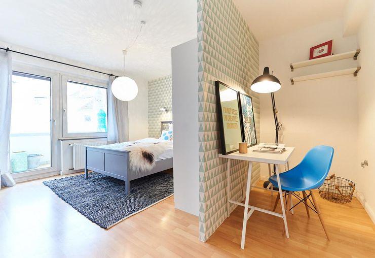 Möbliertes Appartement - Arbeiten & Schlafen Tschangizian Home Staging & Redesign Ausgefallene Arbeitszimmer