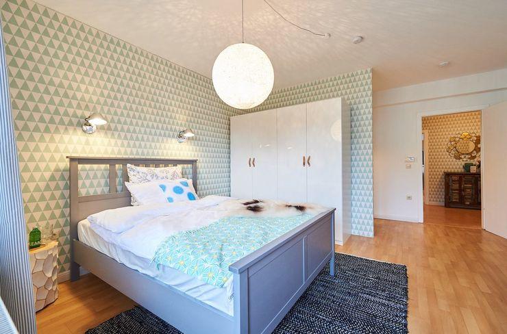 Möbliertes Appartement - Schlafbereich Tschangizian Home Staging & Redesign Moderne Schlafzimmer