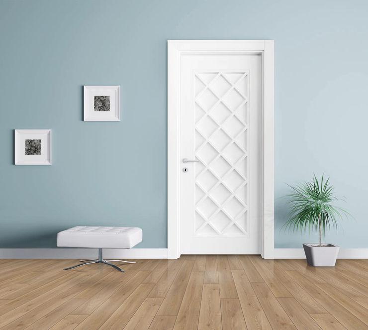 كاسل للإستشارات الهندسية وأعمال الديكور والتشطيبات العامة Puertas de madera Tablero DM Blanco