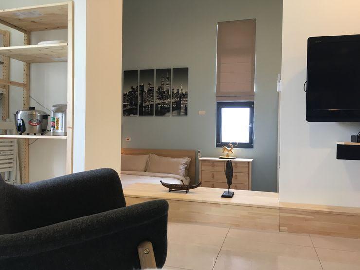 G.T. DESIGN 大楨室內裝修有限公司 Skandinavische Wohnzimmer