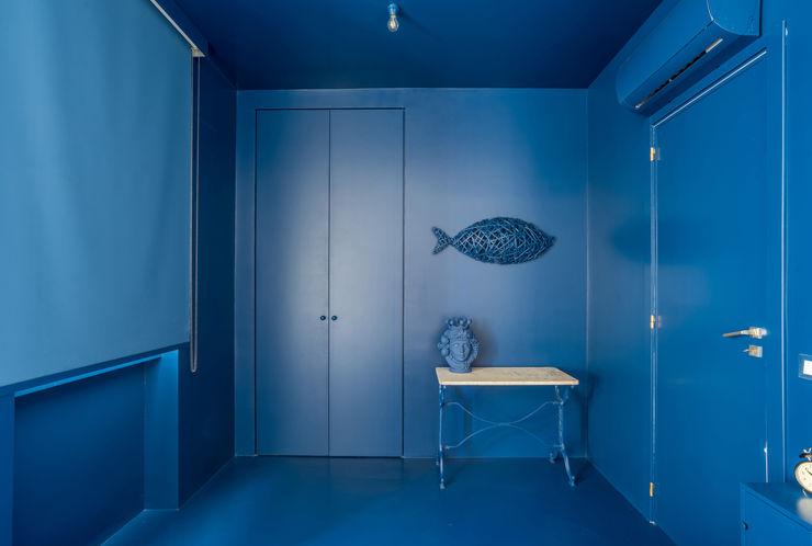 casa IM Giuseppe Iacono Architetto Camera da letto in stile mediterraneo Blu