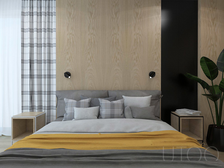 UTOO-Pracownia Architektury Wnętrz i Krajobrazu Спальня