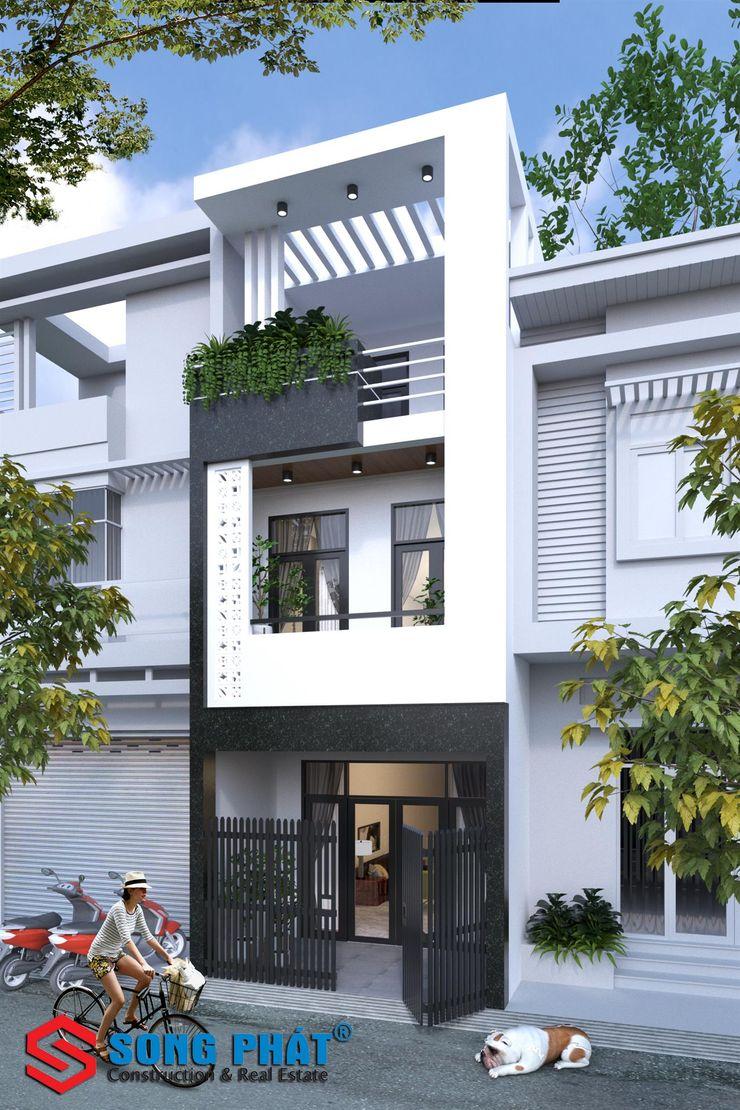 Mặt tiền nhà phố 3 tầng 4x15m với thiết kế hiện đại Công ty Thiết Kế Xây Dựng Song Phát Single family home