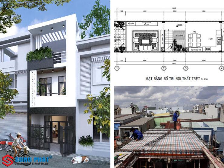 Quá trình thiết kế với nhiều thuận lợi nhờ sự giúp đỡ của gia chủ Công ty Thiết Kế Xây Dựng Song Phát Asian style houses