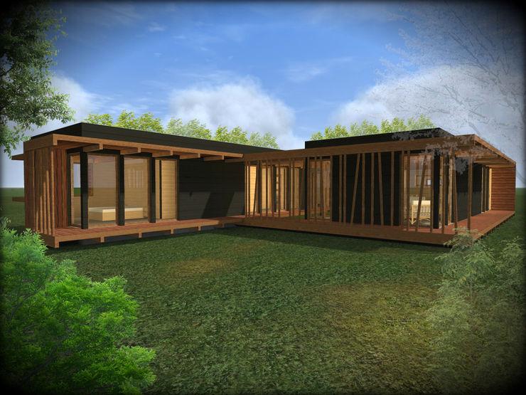 Vicente Espinoza M. - Arquitecto Prefabricated home Wood Brown