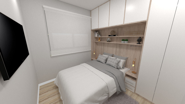 Fareed Arquitetos Associados Modern style bedroom