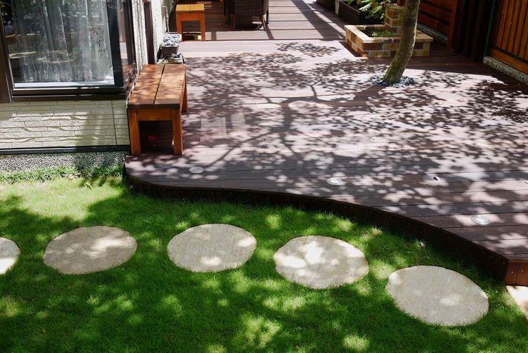 石頭步道 大地工房景觀公司 Rock Garden Slate Green