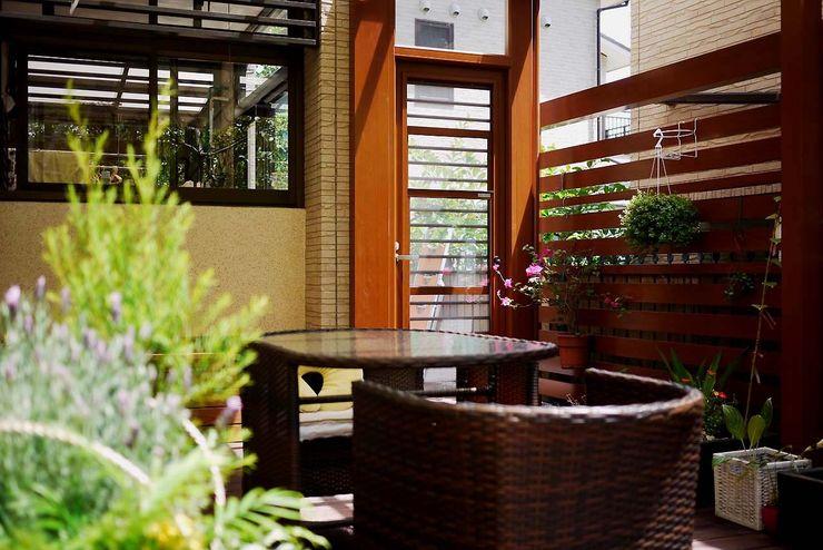 庭院搭配藤式家具 大地工房景觀公司 Rock Garden