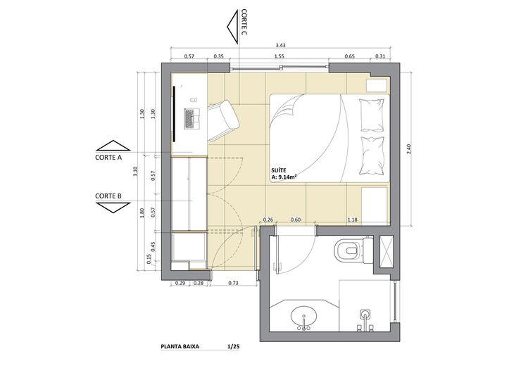 Juliana Bottoni Arquitetura Habitaciones de estilo escandinavo Beige
