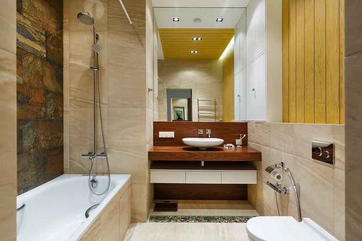 Экоквартира на Морском проспекте FISHEYE Architecture & Design Ванная комната в стиле модерн