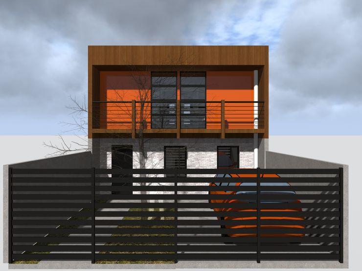 Vicente Espinoza M. - Arquitecto Single family home Wood Orange
