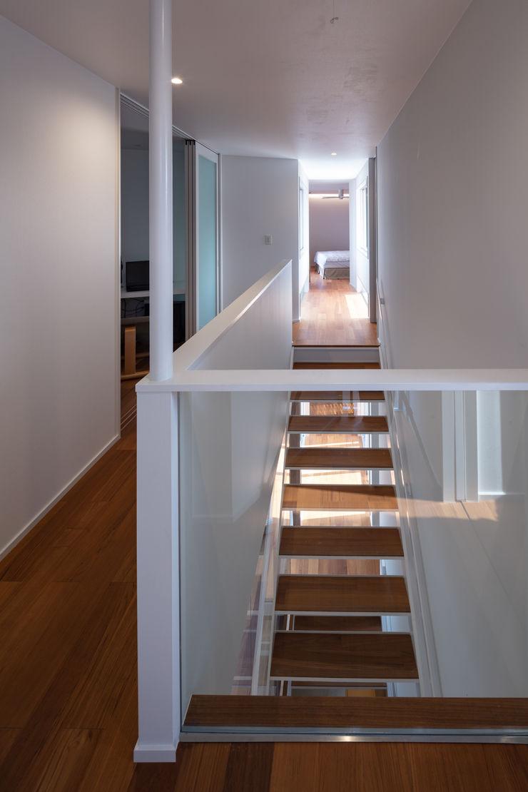 hm+architects 一級建築士事務所 Modern Corridor, Hallway and Staircase