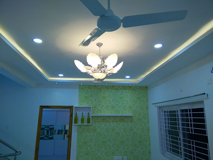 Mr Ravi Kumar PVR Meadows 3BHK Villa Enrich Interiors & Decors Corridor, hallway & stairs Lighting