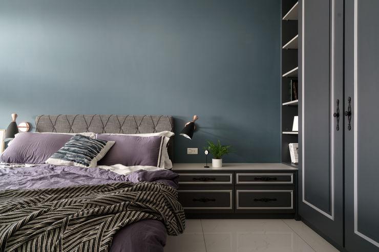 古典英式風味的男孩房 Moooi Design 驀翊設計 臥室 Blue