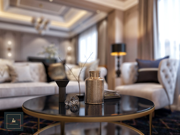 Kareem Mohammed Designs Living roomAccessories & decoration Beton Beige