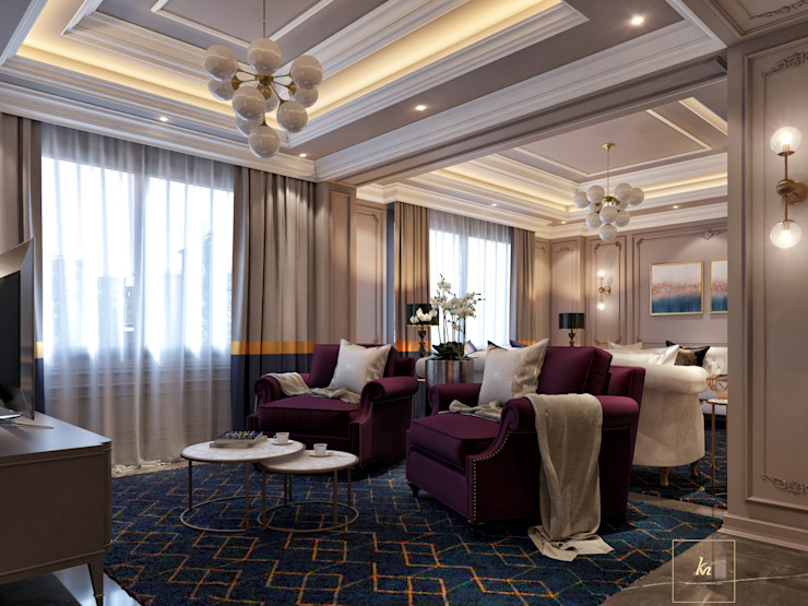 Kareem Mohammed Designs Living roomSofas & armchairs Beton Beige