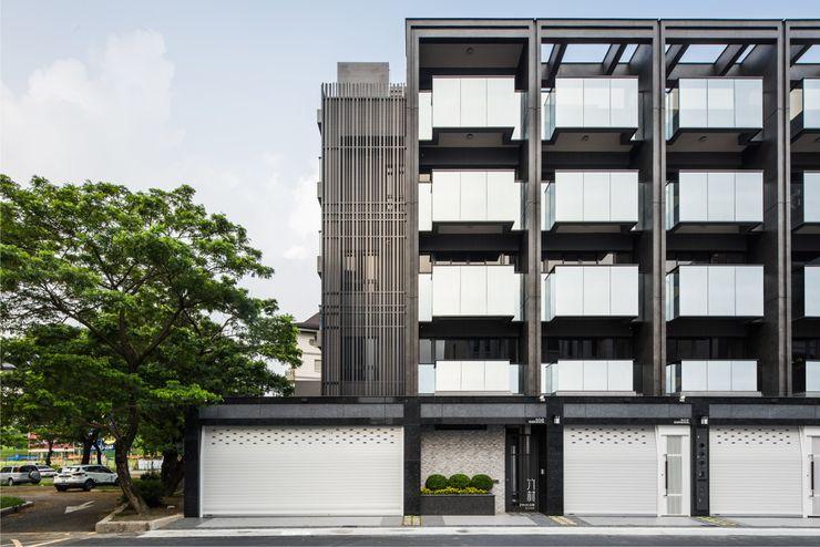 竹村空間 Zhucun Design Kantor & Toko Minimalis Kaca Black