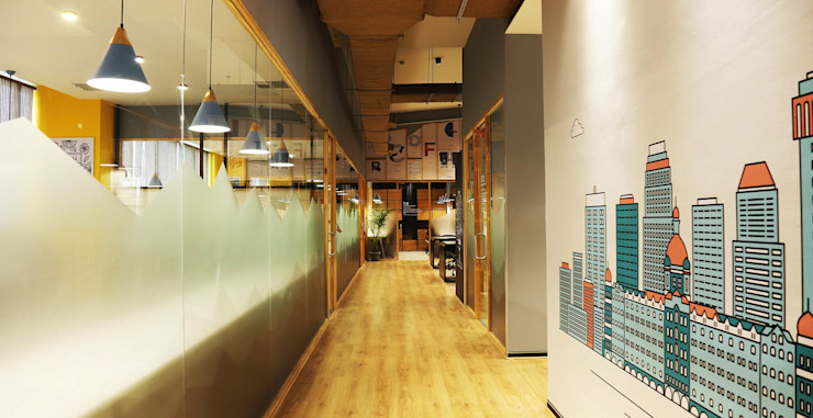 Passages Studio Gritt Eclectic style office buildings Glass Wood effect