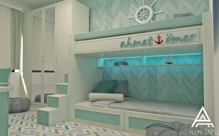 AlevRacu Dormitorios infantiles modernos Madera Verde
