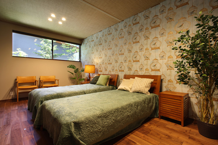 Studio tanpopo-gumi 一級建築士事務所 모던스타일 침실