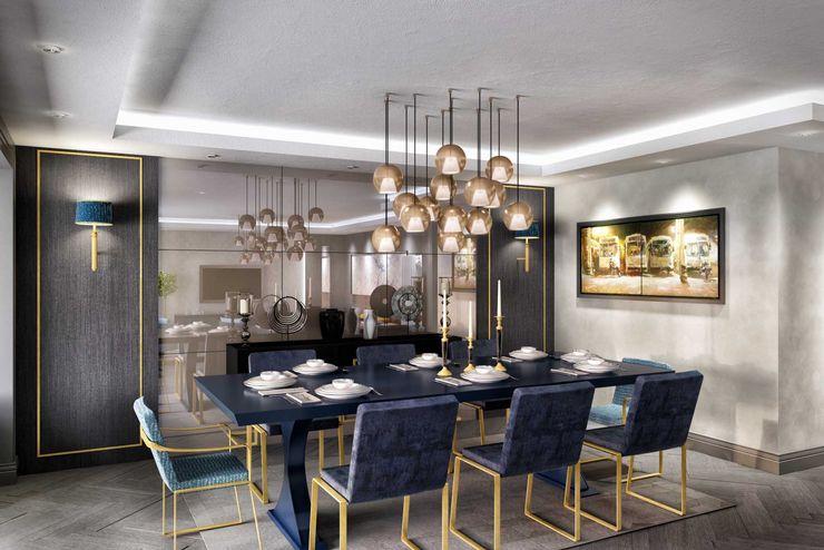 Yemek odası ANTE MİMARLIK Modern Yemek Odası Mavi