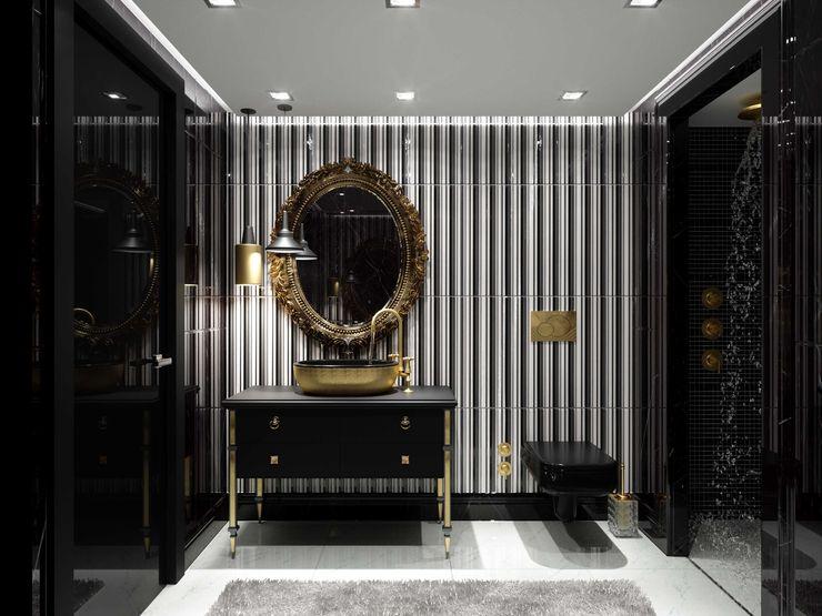 Banyo tasarım ANTE MİMARLIK Modern Banyo Siyah