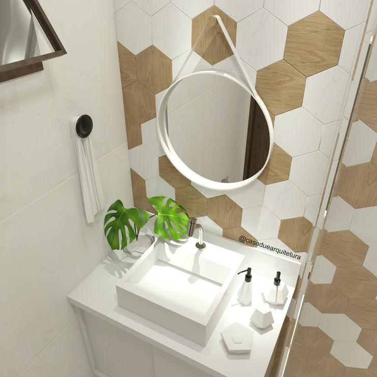 CASA DUE ARQUITETURA Scandinavian style bathroom
