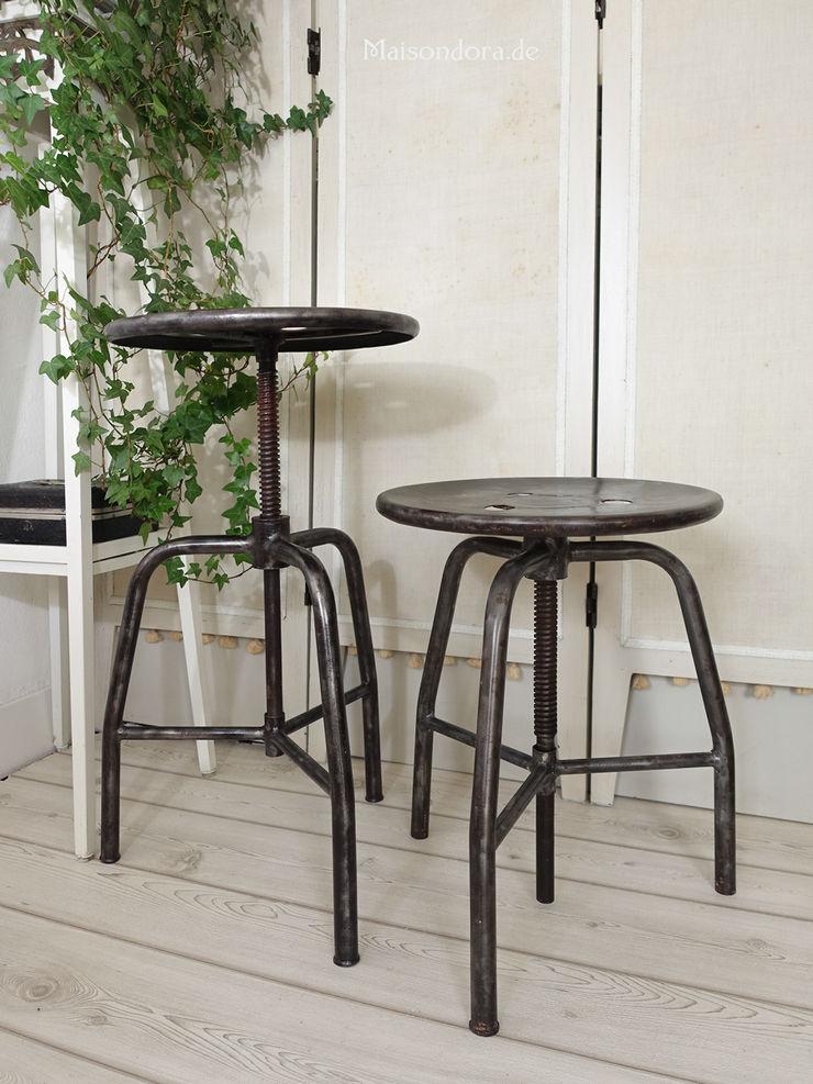 Maisondora Vintage Living Dining roomChairs & benches Metal Black