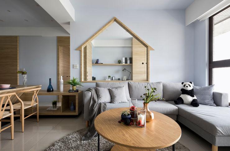 自遊人 實品屋 16.A.DesignCrew 客廳沙發與扶手椅