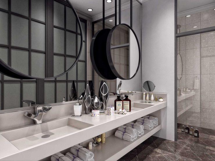 Aynalar ANTE MİMARLIK Modern Banyo