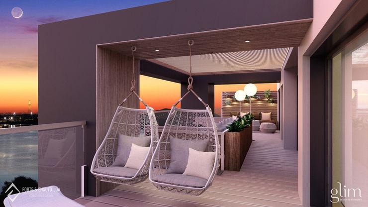 Glim - Design de Interiores Balkon, Veranda & TerrasseMöbel