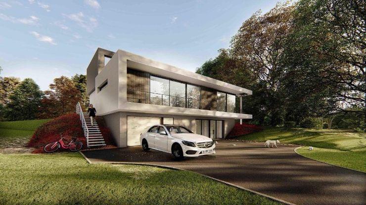 Antalya Belek de Özel Bir Villa AY TASARIM Villa Ahşap-Plastik Kompozit Beyaz