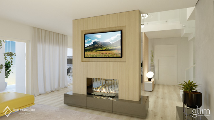 Glim - Design de Interiores WohnzimmerKamin und Zubehör