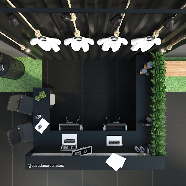CASA DUE ARQUITETURA Commercial Spaces Black